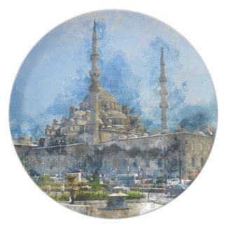 Hagia Sophia in Istanbul Turkey Plate