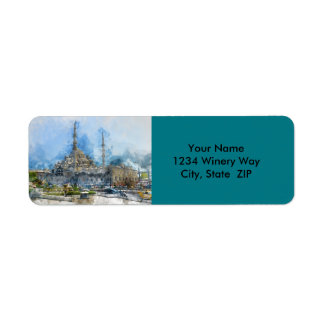 Hagia Sophia in Istanbul Turkey Return Address Label