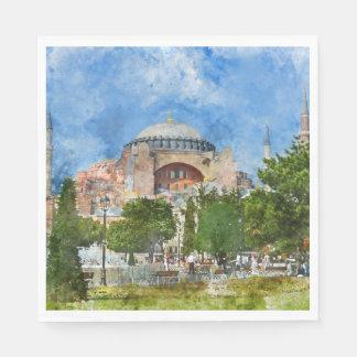 Hagia Sophia in Sultanahmet, Istanbul Disposable Serviette