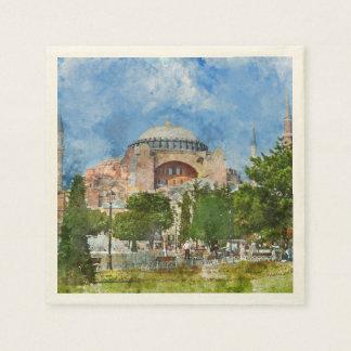 Hagia Sophia in Sultanahmet, Istanbul Paper Serviettes