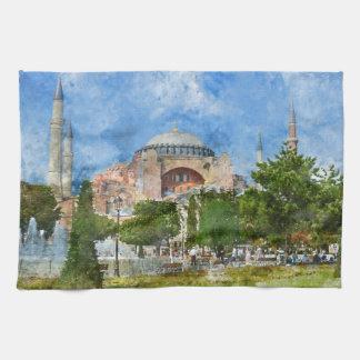 Hagia Sophia in Sultanahmet, Istanbul Tea Towel