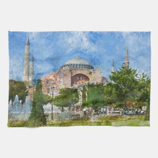 Hagia Sophia in Sultanahmet, Istanbul Turkey Tea Towel