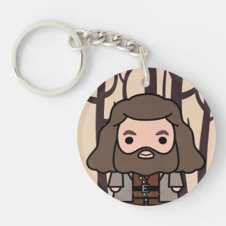 Hagrid Cartoon Character Art Double-Sided Round Acrylic Key Ring