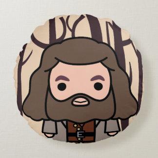 Hagrid Cartoon Character Art Round Cushion
