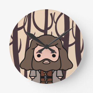 Hagrid Cartoon Character Art Wall Clock
