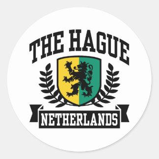 Hague Round Sticker