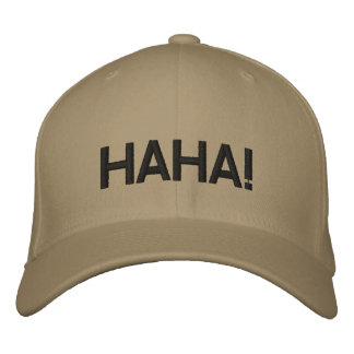 HAHA EMBROIDERED HAT