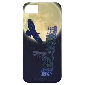 Haida Eagle, Full Moon & Totem Pole Native Art Case For The iPhone 5