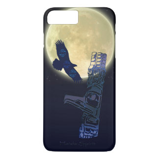 Haida Eagle, Full Moon & Totem Pole Native Art iPhone 8 Plus/7 Plus Case