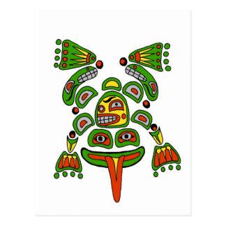 Haida frog postcard
