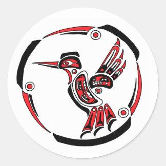 Haida Hummingbird Classic Round Sticker