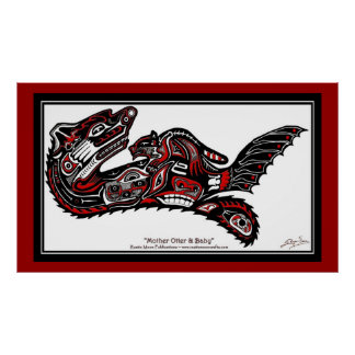 """HAIDA SPIRIT"" Otter Larger version Art Print"