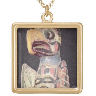 Haida 'Thunderbird' statue (painted wood) Jewelry