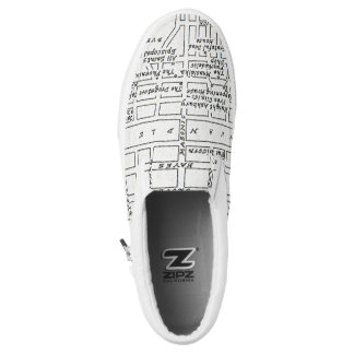 Haight Ashbury Map Slip-On Shoes