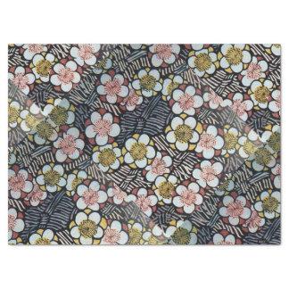 HAIKU/ BLACK WHITE PINK YELLOW SPRING FLOWERS TISSUE PAPER