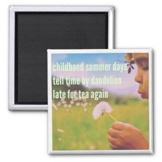 Haiku Fridge Magnet - Childhood Summer Days