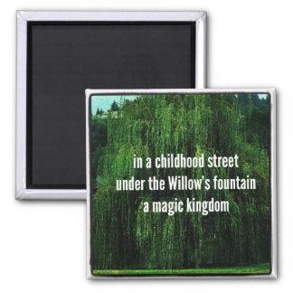 Haiku Fridge Magnet - Under Willow's Fountain