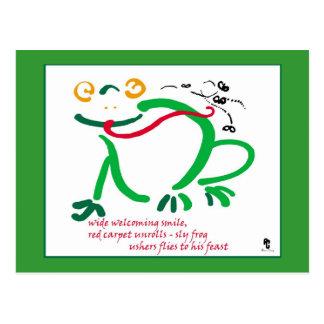Haiku - frog's feast postcard