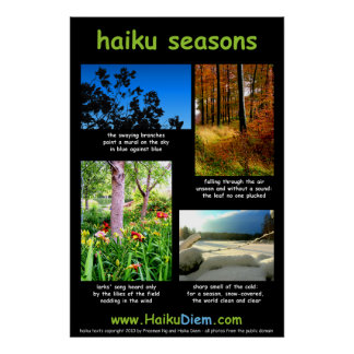 Haiku Seasons poster (black background)