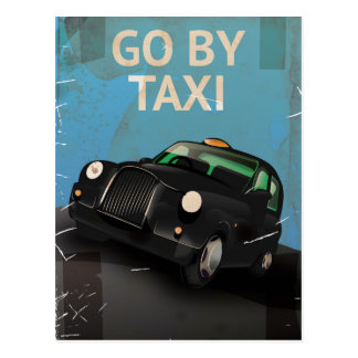Hail a Taxi Cab! vintage Poster. Postcard