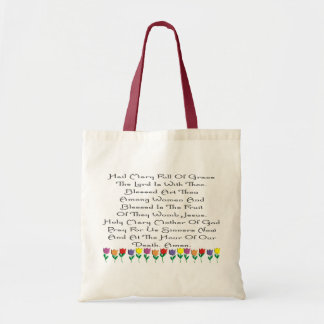Hail Mary Catholic Prayer Gifts & Cards Budget Tote Bag