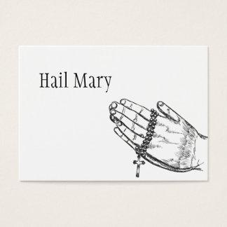 Hail Mary Prayer Business Card