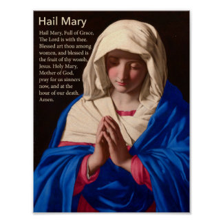 Hail Mary Prayer Poster