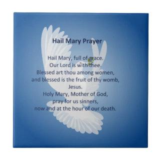 Hail Mary Prayer Tile