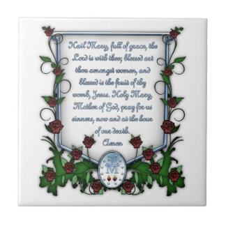 Hail Mary Small Square Tile