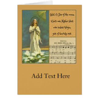 Hail Mary Star of the Sea Ave Maris Rosary Card