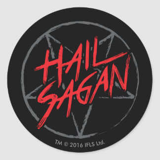 Hail Sagan Classic Round Sticker