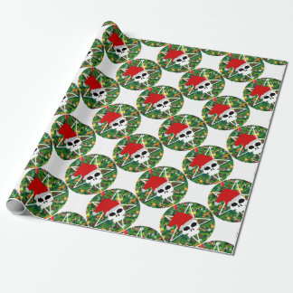 hail santa wrapping paper