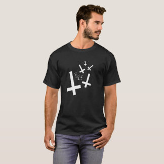 Hail Satan - 666 Cult Crosses anti-Christian - T-Shirt