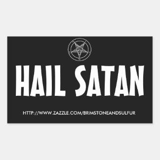 Hail Satan Rectangle sticker