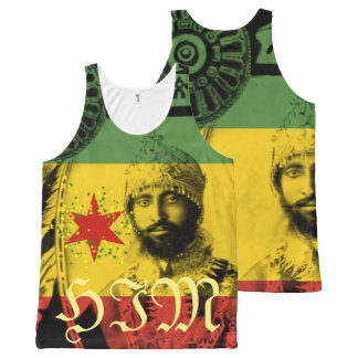 Haile Selassie All over Print HIM Tank Singlet Top
