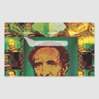 HAILE SELASSIE by Lionartgfx Rectangular Sticker