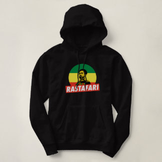 Haile Selassie Jah Rastafari Emperor Rasta Hoodie