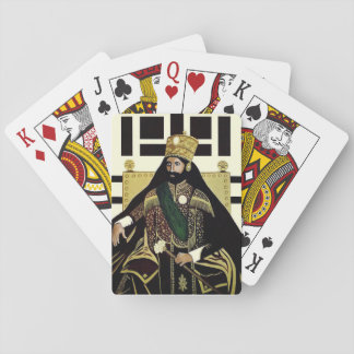 Haile Selassie - King OF the Kings - poker Cards