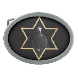 Haile Selassie Star of David Belt Buckle