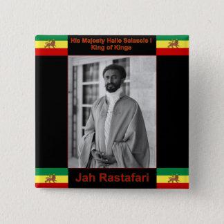Haile Selassie the Lion of Judah, Jah Rastafari 15 Cm Square Badge