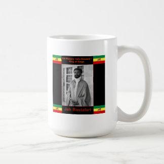 Haile Selassie the Lion of Judah, Jah Rastafari Basic White Mug