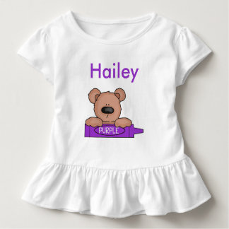 Hailey's Personalized Teddy Toddler T-Shirt