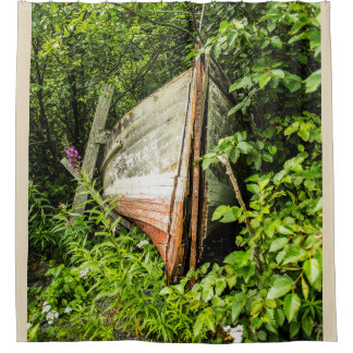 Haines Cannery Boat Shower Curtain