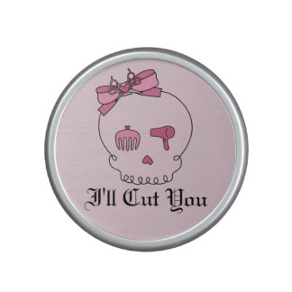 Hair Accessory Skull (Bow Detail Pink w/ Text 4) Speaker