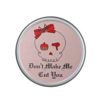 Hair Accessory Skull (Bow Detail Red w/ Text 2) Bluetooth Speaker