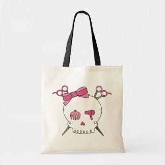 Hair Accessory Skull (Scissor Crossbones) Tote Bag