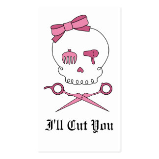 Hair Accessory Skull & Scissor Crossbones Business Card
