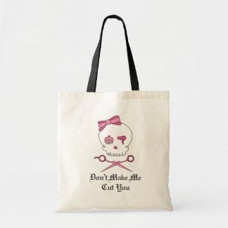 Hair Accessory Skull & Scissor Crossbones (Pink) Canvas Bag