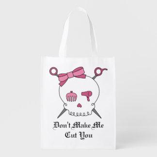 Hair Accessory Skull & Scissors (Pink)