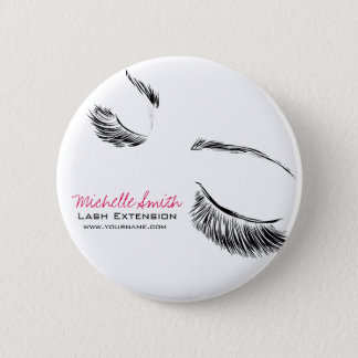 Hair and beauty Lash Extension company branding 6 Cm Round Badge